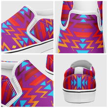 Fire Colors and Turquoise Purple Otoyimm Canvas Slip On Shoes 49 Dzine
