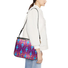 Fire Colors and Turquoise Purple Small Shoulder Bag (Model 1710) Small Shoulder Bag (1710) e-joyer