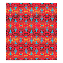 "Fire Colors and Turquoise Red Quilt 70""x80"" Quilt 70""x80"" e-joyer"