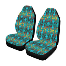 Fire Colors and Turquoise Teal Car Seat Covers (Set of 2) Car Seat Covers e-joyer