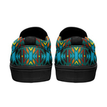 Fire Colors and Turquoise Teal Otoyimm Canvas Slip On Shoes 49 Dzine