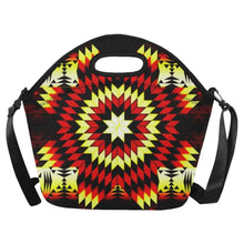 Fire Colors Neoprene Lunch Bag/Large (Model 1669) Neoprene Lunch Bag/Large (1669) e-joyer