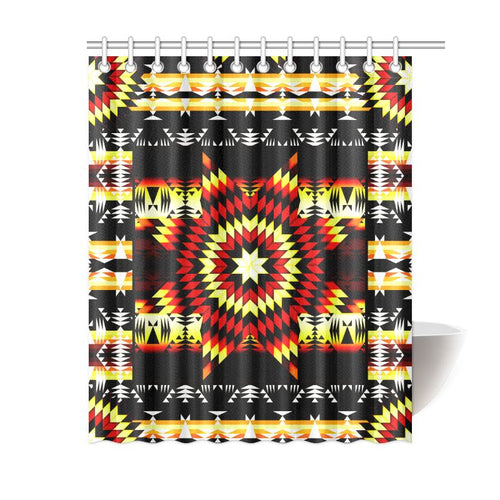 Fire Colors Shower Curtain 60