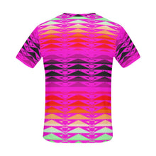 Fire Rattler Fuschia All Over Print T-Shirt for Men (USA Size) (Model T40) All Over Print T-Shirt for Men e-joyer