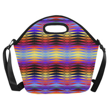 Fire Rattler Horizon Large Insulated Neoprene Lunch Bag That Replaces Your Purse (Model 1669) Neoprene Lunch Bag/Large (1669) e-joyer