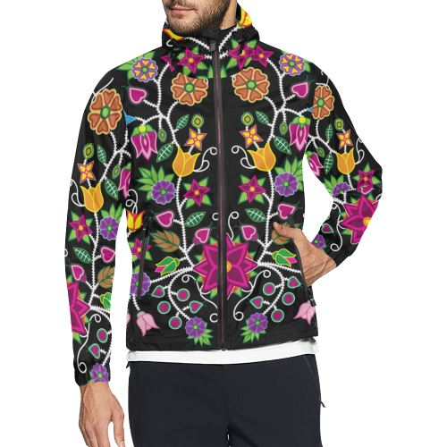 Floral Beadwork-01 All Over Print Windbreaker for Men (Model H23) All Over Print Windbreaker for Men (H23) e-joyer