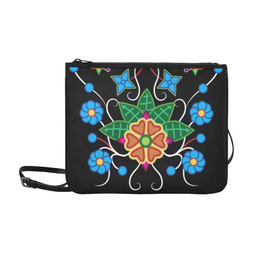 Floral Beadwork-02 Slim Clutch Bag (Model 1668) Slim Clutch Bags (1668) e-joyer