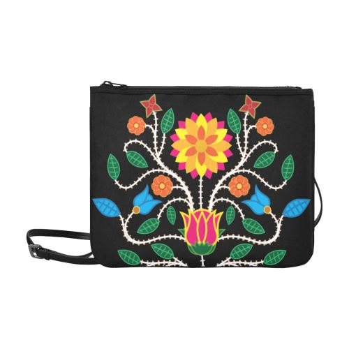 Floral Beadwork-03 Slim Clutch Bag (Model 1668) Slim Clutch Bags (1668) e-joyer