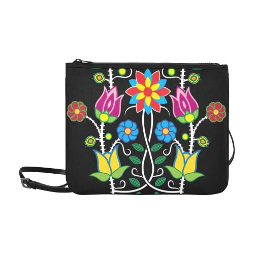 Floral Beadwork-04 Slim Clutch Bag (Model 1668) Slim Clutch Bags (1668) e-joyer