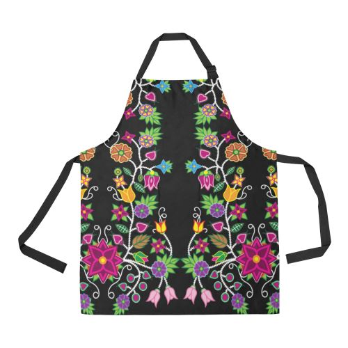 Floral Beadwork All Over Print Apron All Over Print Apron e-joyer