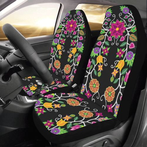 Floral Beadwork Car Seat Covers (Set of 2) Car Seat Covers e-joyer