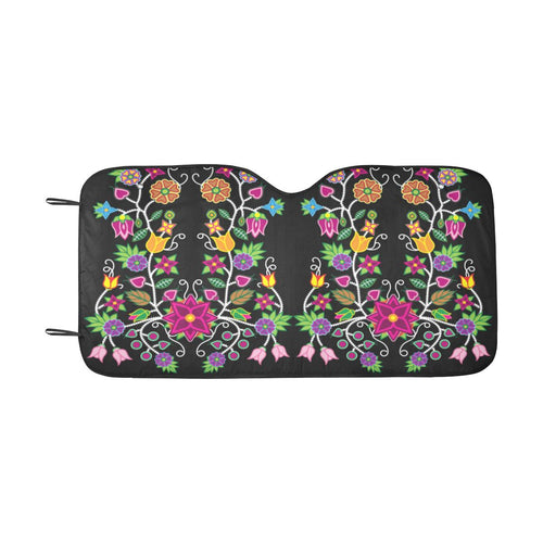Floral Beadwork Car Sun Shade 55