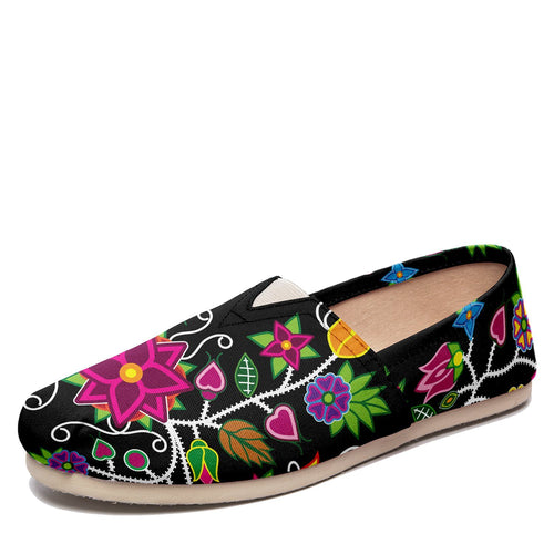 Floral Beadwork Casual Unisex Slip On Shoe Herman