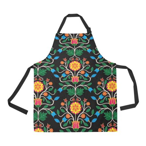 Floral Beadwork Four Clans All Over Print Apron All Over Print Apron e-joyer