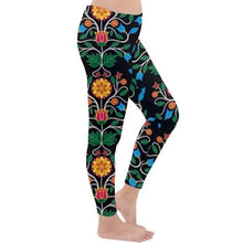 Floral Beadwork Four Clans Classic Winter Leggings leggings-pants 49 Dzine