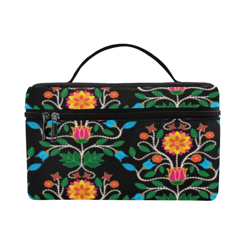Floral Beadwork Four Clans Cosmetic Bag/Large (Model 1658) Cosmetic Bag e-joyer