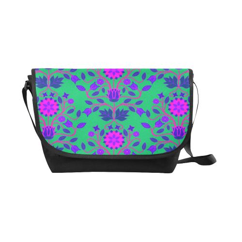 Floral Beadwork Four Clans Deep Lake New Messenger Bag (Model 1667) New Messenger Bags (1667) e-joyer