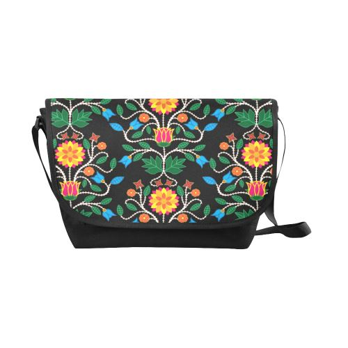 Floral Beadwork Four Clans New Messenger Bag (Model 1667) New Messenger Bags (1667) e-joyer