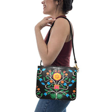 Floral Beadwork Four Clans Small Shoulder Bag (Model 1710) Small Shoulder Bag (1710) e-joyer