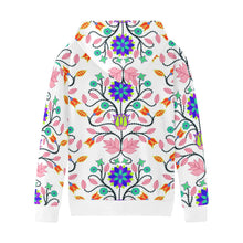 Floral Beadwork Four Clans White Kids' All Over Print Hoodie (Model H38) Kids' AOP Hoodie (H38) e-joyer