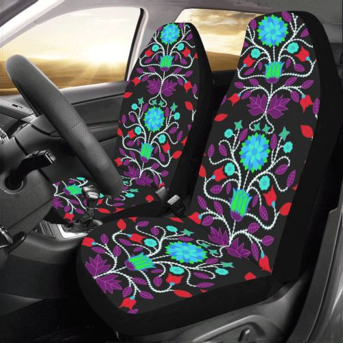 Floral Beadwork Four Clans Winter Car Seat Covers (Set of 2) Car Seat Covers e-joyer