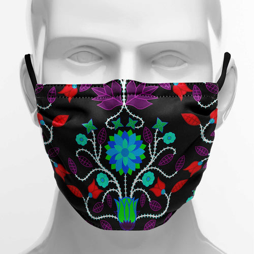 Floral Beadwork Four Clans Winter Face Cover Herman
