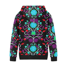 Floral Beadwork Four Clans Winter Kids' All Over Print Hoodie (Model H38) Kids' AOP Hoodie (H38) e-joyer