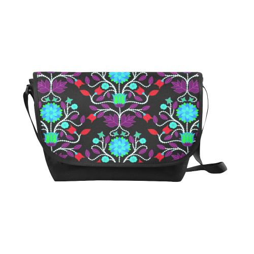 Floral Beadwork Four Clans Winter New Messenger Bag (Model 1667) New Messenger Bags (1667) e-joyer