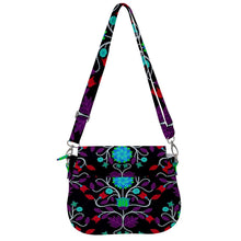 Floral Beadwork Four Clans Winter Saddle Handbag cross-body-handbags 49 Dzine
