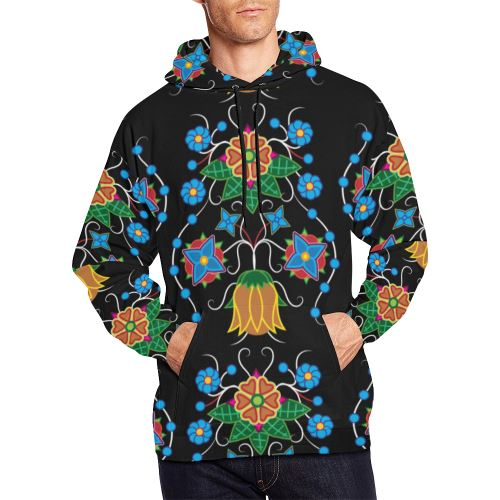 Floral Beadwork Four Mothers All Over Print Hoodie for Men (USA Size) (Model H13) All Over Print Hoodie for Men (H13) e-joyer