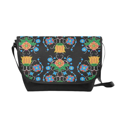 Floral Beadwork Four Mothers New Messenger Bag (Model 1667) New Messenger Bags (1667) e-joyer