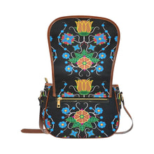 Floral Beadwork Four Mothers Saddle Bag/Small (Model 1649) Full Customization Saddle Bag/Small (Full Customization) e-joyer