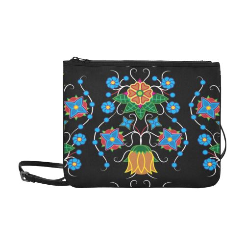 Floral Beadwork Four Mothers Slim Clutch Bag (Model 1668) Slim Clutch Bags (1668) e-joyer