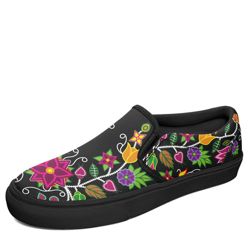 Floral Beadwork Otoyimm Canvas Slip On Shoes 49 Dzine