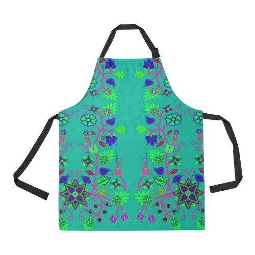 Floral Beadwork Seven Clans Deep Lake All Over Print Apron All Over Print Apron e-joyer