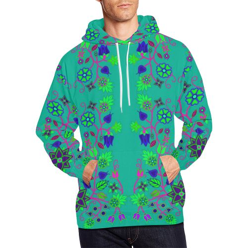 Floral Beadwork Seven Clans Deep Lake All Over Print Hoodie for Men (USA Size) (Model H13) All Over Print Hoodie for Men (H13) e-joyer