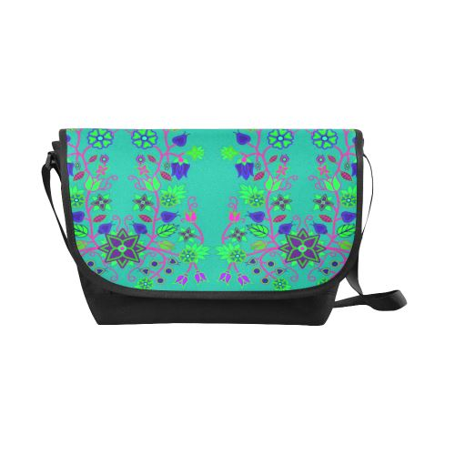 Floral Beadwork Seven Clans Deep Lake New Messenger Bag (Model 1667) New Messenger Bags (1667) e-joyer