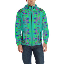 Floral Beadwork Seven Clans Deep Lake Unisex Quilted Coat All Over Print Quilted Windbreaker for Men (H35) e-joyer