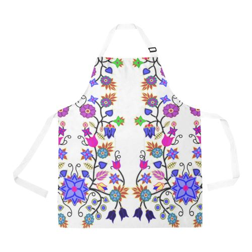 Floral Beadwork Seven Clans White All Over Print Apron All Over Print Apron e-joyer
