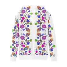 Floral Beadwork Seven Clans White Kids' All Over Print Hoodie (Model H38) Kids' AOP Hoodie (H38) e-joyer