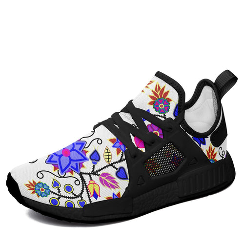 Floral Beadwork Seven Clans White Sinopaa Sneakers 49 Dzine