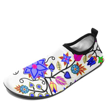 Floral Beadwork Seven Clans White Sockamoccs Slip On Shoes 49 Dzine