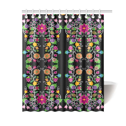 Floral Beadwork Shower Curtain 60