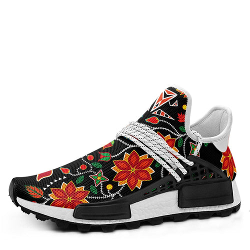 Floral Beadwork Six Bands Okaki Sneakers Shoes 49 Dzine