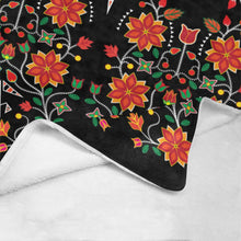 "Floral Beadwork Six Bands Ultra-Soft Micro Fleece Blanket 60""x80"" Ultra-Soft Blanket 60''x80'' e-joyer"