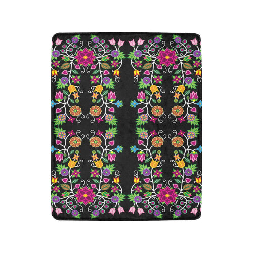 Floral Beadwork Ultra-Soft Micro Fleece Blanket 40