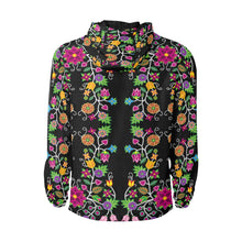 Floral Beadwork Unisex Quilted Coat All Over Print Quilted Windbreaker for Men (H35) e-joyer