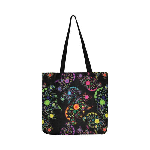 Floral Bear Reusable Shopping Bag Model 1660 (Two sides) Shopping Tote Bag (1660) e-joyer