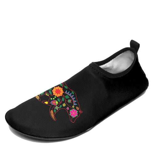 Floral Bear Sockamoccs Slip On Shoes 49 Dzine