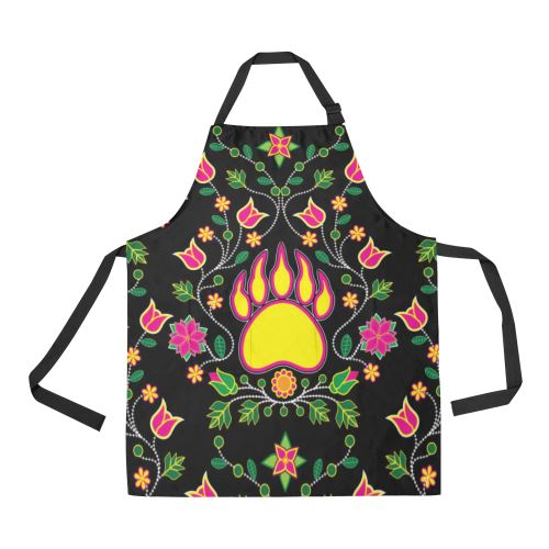 Floral Bearpaw All Over Print Apron All Over Print Apron e-joyer